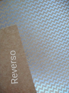 1 hoja papel A4 CRAFT diseño CHEVRON PLATA. 180g