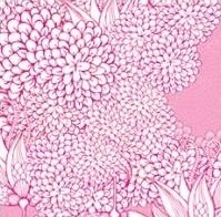 Papel FLORES CHINAS ROSA 10x10 cm. 20 hojas simple faz