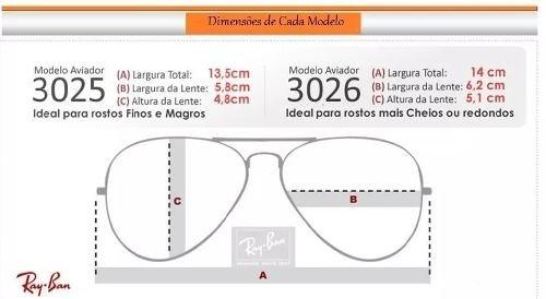 01ab030666dc1 ... Cores Variadas Imagem do Kit C 3 Oculos De Sol Ray-Ban Aviador Classico  De Cristal