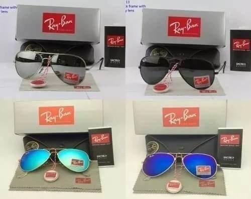 734f2c6961fff ... Kit C 3 Oculos De Sol Ray-Ban Aviador Classico De Cristal Cores Variadas  ...