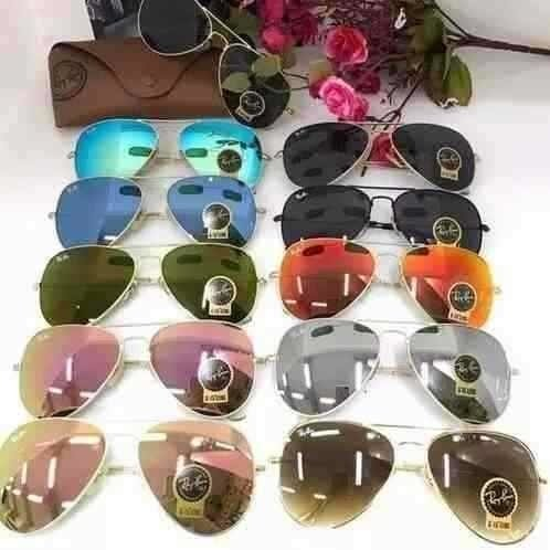 9556c6660caf1 ... Kit C 3 Oculos De Sol Ray-Ban Aviador Classico De Cristal Cores  Variadas ...