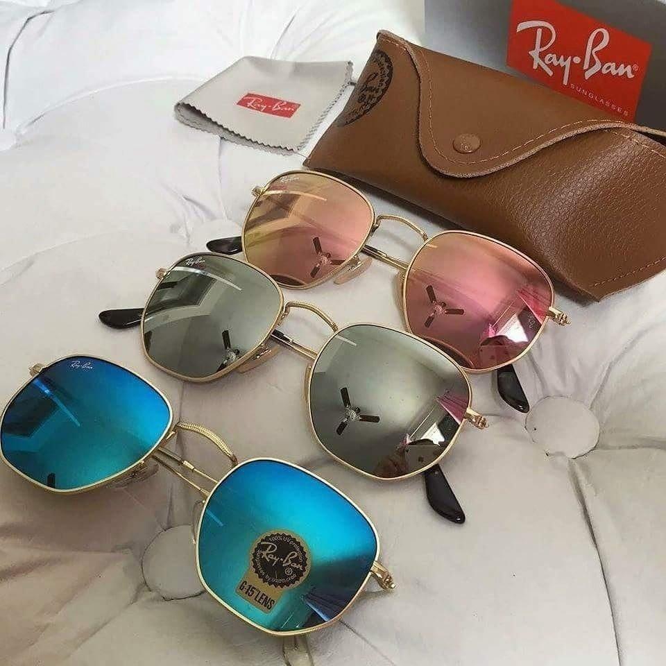 dcdd324d1 Kit C/3 Oculos De Sol Ray-Ban Hexagonal De Cristal Frete gratis