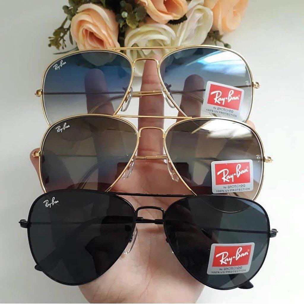 cfb1ae073 Oculos De Sol Ray-Ban Aviador Classico De Cristal Cores Variadas
