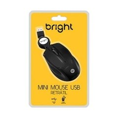 Mouse USB Mini Retrátil Bright - comprar online