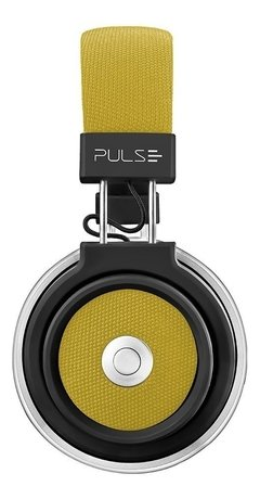 HEADPHONE BLUETOOTH LARGE AMARELO PULSE - PH233 - EletroVip