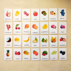 FLASHCARDS FRUTAS - FATTO CON AMORE
