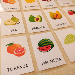 FLASHCARDS FRUTAS - comprar online