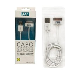 Cabo Dados Usb Fam Iphone 4 Ipad 2 3 - Cabo 2metros Original