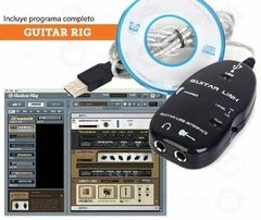 Interfaz Interface Adaptador Guitarra Bajo Usb Guitar Link - comprar online