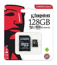 Memoria Micro Sd 128gb Kingston Clase 10 80mb/s Canvas Video