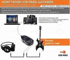 Interfaz Interface Adaptador Guitarra Bajo Usb Guitar Link en internet