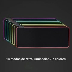 Mouse Pad Gamer Luz Led Rgb 7 Colores Usb 800x300mm Gms-x5 en internet