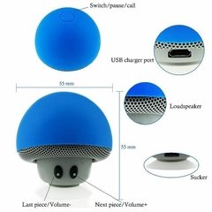 Mini Parlante Bluetooth Honguito Colores Sopapa Inalambrico