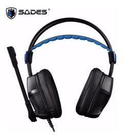 Auricular Gamer para pc Sades Xpower Plus Sa-706s Usb Pc Ps4 con microfono - comprar online