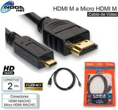 Cable Hdmi A Micro Hdmi 2m Noga Full Hd Camaras Tablet Gopro - dotPix Store