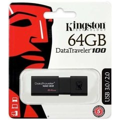 Pendrive Kingston 64gb Datatraveler 100 Usb 3.0 Negro