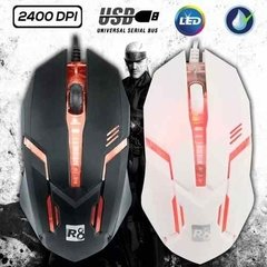 Mouse Gamer Usb R8 M1602l 3d Luces Led 2400dpi Juegos