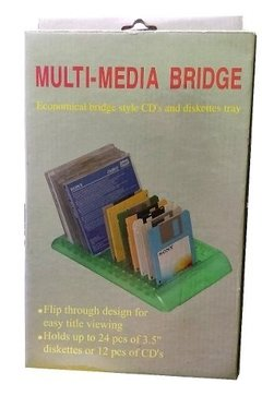 Base Porta Cd Multi Media Bridge Para Cd Dvd Diskette 3.5 - comprar online