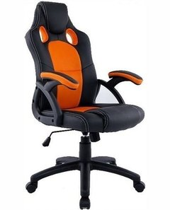 Silla Gamer Racoor D-305 Naranja Y Negra Pc Gaming Chair