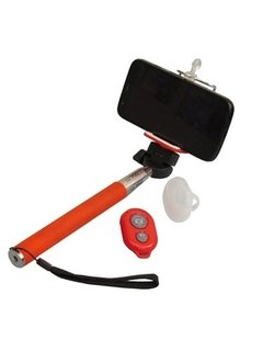 Baston Palo Selfie Stick Bluetooth Disparador Llavero Funda