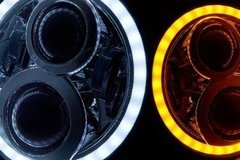 "PAR FAROL LED 7"" COM ANGEL EYES - comprar online"