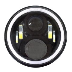 "PAR FAROL LED 7"" COM ANGEL EYES"