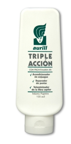 Acondicionador Triple Acción Aurill 100cm3 Sin Enjuague