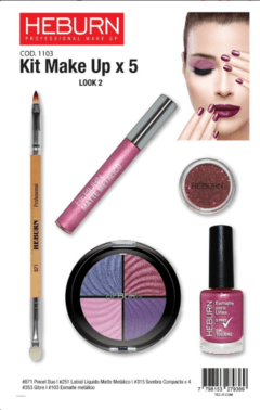 Kit Make up x5 - Heburn - comprar online