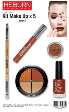 Kit Make up x5 - Heburn - tienda online