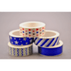 Kit com 05 Washi Tape Azul Metalizadas 05 metros