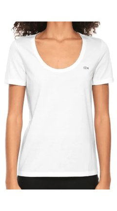 Remera Lacoste Basica Mujer Blanca