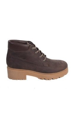 Borcego Hush Puppies Mujer King Cuero Marr¢n
