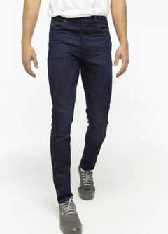 Jeans Hombre Bensimon Ramones Stress Skinny Fit Azul Oscuro