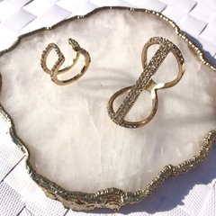 "Set de anillos ""Golden Islands"""