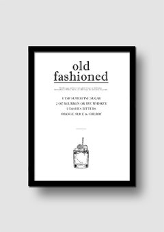 Cuadro Trago Old Fashioned en internet