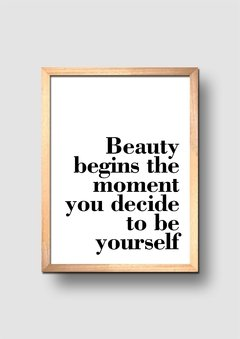 Cuadro Beauty Quote - comprar online