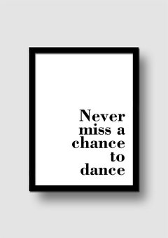 Cuadro Dance Quote en internet