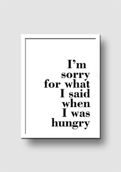 Cuadro Hungry Quote - Memorabilia