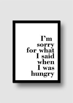 Cuadro Hungry Quote en internet