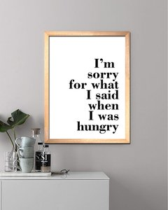 Cuadro Hungry Quote