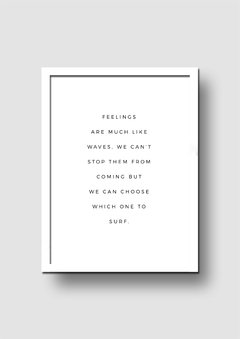 Cuadro Feelings Quote - Memorabilia