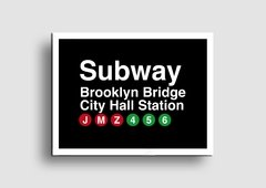 Cuadro Cartel Subway Brooklyn Bridge - Memorabilia