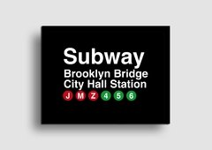 Cuadro Cartel Subway Brooklyn Bridge en internet