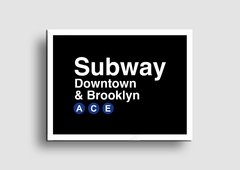 Cuadro Cartel Subway Downtown - Memorabilia