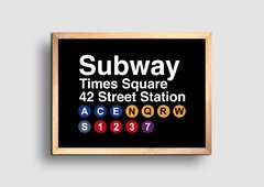 Cuadro Cartel Subway Times Square - comprar online
