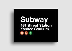 Cuadro Cartel Subway Yankee Stadium en internet
