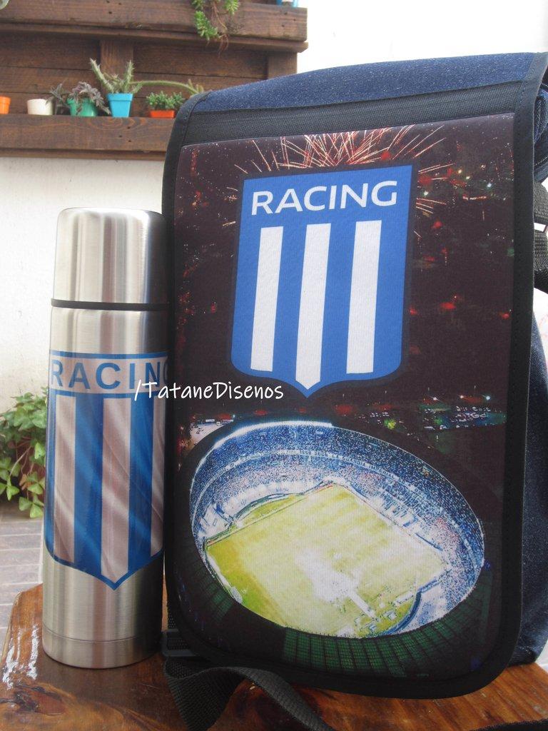 Bolso Matero Racing Club - Comprar en Tatane Diseños 19e800f8fa065