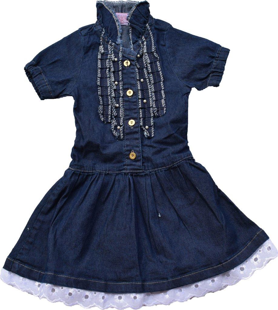 0c0e1365c Vestido Jeans com Babado - Comprar em Bibi Encanto