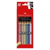 Lapices Faber-Castell metalizados x10