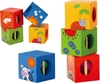 Classic World: 4 Cubos Discovery Animales Bloques
